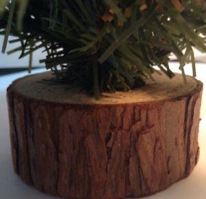 "16"" Christmass Tree on wooden base whit ornaments / arbre de Noël + décorations"