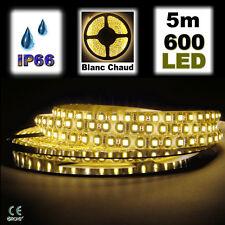 820/5# Strip LED Blanc chaud étanche120LED/m bobine 5m