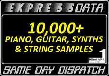 PIANO, GUITAR, SYNTHS SAMPLES & LOOPS SET - WAV, Studio, Producer, MIDI