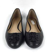 570b202a6 Size 6.5 Tory Burch Melinda Black Leather Logo Slip On Ballet Flats