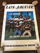 """LOS JAGUAR EL CHUPE JAGUARR POSTER NOVA VOX 15"""" X 22"""" TEJANO VINTAGE"""