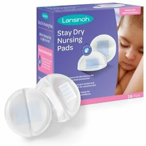 Lansinoh Stay Dry Disposable Nursing Pads for Breastfeeding 36 count Pads
