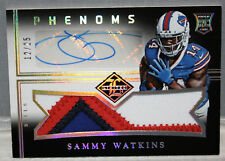 2014 PANINI KANSAS CITY CHIEFS SAMMY WATKINS 3 CLR ROOKIE JUMBO AUTOGRAPH PATCH!