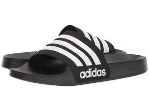 Man Adidas Adilette Slide Sandal AQ1701 Black White Core Black 100% Brand New