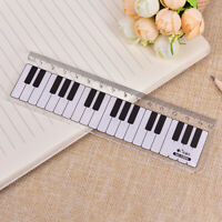 Creative Piano Keyboard Ruler 15cm 6in Musical Terms Black and White PlasticJJC