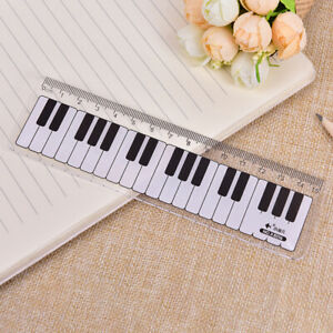 Creative Piano Keyboard Ruler 15cm 6in Musical Terms Black and White Plas Bn