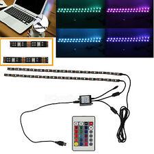 2x 50cm LED USB RGB TV Backlight Multi Color Strip Light Kit Mood Changing Lamp
