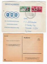 DDR East Germany FDC 1962 15th Cycling Trip Berlin Prague Warsaw first day cover