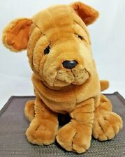 """Sharpei Wrinkle Dog Plush Ganz Gold Brown Stuffed Puppy 11"""" Heritage Collection"""