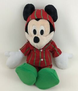 """Applause Mickey Mouse in Striped Pajamas 17"""" Plush Stuffed Toy Disney Vintage"""