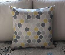 Yellow Grey Geometries Cotton Linen Throw Pillow Cushion Cover Home Decor H2452