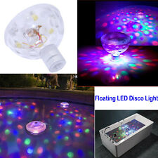 Floating Underwater LED Disco Light Glow Show Swimming Pool Hot Tub Spa Lamp UK