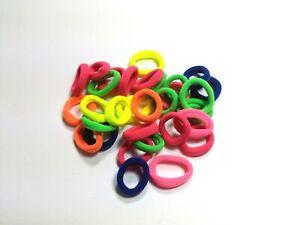 20X Elastic Hair Bobbles Baby Girl Kids Mini Soft Bands Snag Free Bright Colours