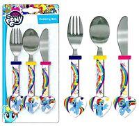 "Spearmark My Little Pony ""Rainbow Dash"" MLP. Cutlery Set Birthday Gift Age 3 - 4"