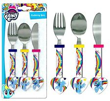 """Spearmark My Pony """"Little Rainbow Dash"""" MLP Set di posate. regalo di compleanno età 3 - 4"""