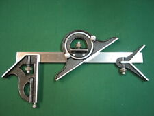 Starrett Combination Square with Protractor and Center Finder