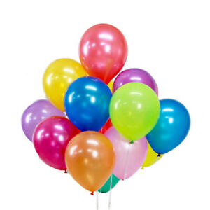 100 x Party Balloons Baloons Quality Celebration Birthday Wedding Mixed Colours