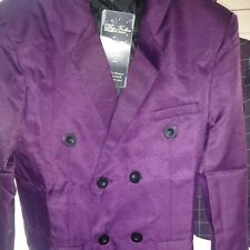 Gianni Verace double breasted mens blazer wool purple 40L