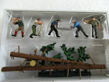 Preiser (Ho 1:87) Lumberjacks with Logs and Trees #10495
