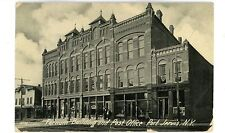 Port Jervis Ny - Farnum Building & Post Office - Postcard