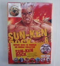 BD livre manga Sun Ken Rock Volume 6 avec badge Boichi Bamboo Doki Doki NEUF