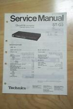 Technics Service Manual for the ST-G3 Tuner