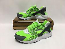 Nike Air Huarache Run Print (GS) Green Gray White 704943-300 Youth Size 4.5Y NEW
