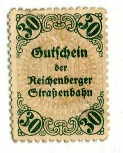 Notgeld Reichenberg Straßenbahn