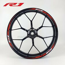 YZF-R1 motorcycle wheel decals stickers rim stripes Yamaha 2015 Laminated Red