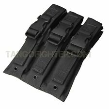 CONDOR MA37 MOLLE Triple Airsoft MP5 1,000 D Mag Magazine Pouch BLACK