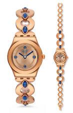 Swatch Goldenlinkings Watch YSG148G Analog Stainless Steel Rosé