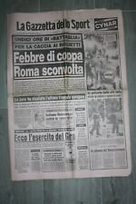 Gazzetta dello Sport 15 Maggio 1984 Biglietti Roma Liverpool Febbre di Coppa