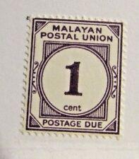 MALAYA  Sc #J7 * MH postage stamp, postage due, Fine +