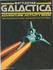 1978 Battlestar Galactica Adventure Activity Book Cover Vf Contents Nm/Mt