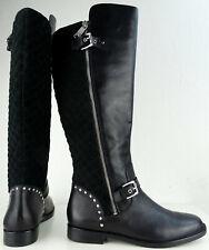 LAUREN RALPH LAUREN Damen Stiefel Leder Boots Wadenhohe Stiefel Black Gr.40 NEU