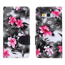 Urcover® floral pattern phone Case Cover Shell Flip Case Glass film