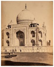 Antique Albumen Print Photograph Of the Taj Mahal India By Shepard & Robertson