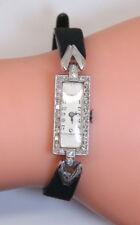 Antique 17 Jewel Platinum & .25 Ct Diamond Awoner/Empire D. Co. Ladies Watch