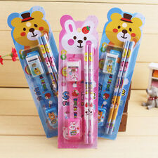 Set of stationery in a pack Pencil Earaser Sharpener Kids Students Gifts Gift