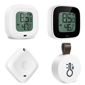 1-2x 20-50M Bluetooth Display Indoor Thermometer Hygrometer Temperature Humidity