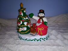 Avon 2000 A Wonderful Countdown to Christmas Advent Talking Snowman Lighted Tree