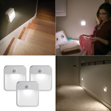 3 Pack Simple Battery Powered Lamp Motion Sensing LED Wall Nightlight
