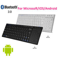 2 in 1 Slim Wireless Bluetooth Keyboard + Touchpad Mouse For Cellphone Laptop