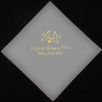 6-1//2-Inch 16-Count White Paper Wedding Bell Printed Cocktail Napkins
