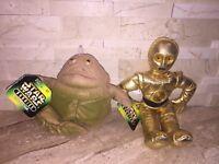 STAR WARS BUDDIES SET OF TWO JABBA THE HUTT & C-3PO NWT