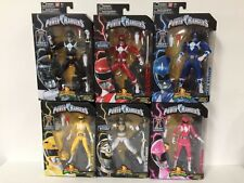 SET OF 6 NEW POWER RANGERS LEGACY LOT RED METALLIC MMPR MIGHTY MORPHIN' MEGAZORD