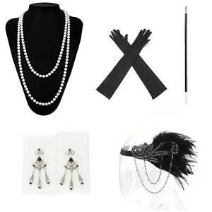 5 Stk. Damen 20ER Charleston Kostüm Gatsby 1920er Jahre Kostüm Zubehör-set