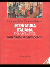LETTERATURA ITALIANA - DALLE ORIGINI AL QUATTROCENTO