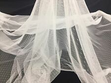 English Netting - For Bridal Veil Fabric White Soft 60 Inch Mesh-Net By The Yard