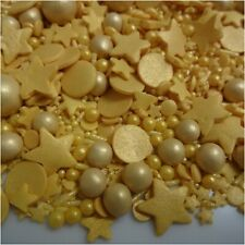 Gold Cupcake Sprinkles Mix Edible Cake Toppers Decorations Wedding Anniversary